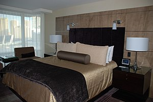 Aria Resort and Casino - An Aria hotel room's interior