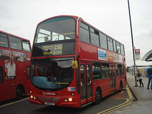 Arriva Shires 6041 on Route 258, Wealdstone (Harrow & Wealdstone Station).jpg