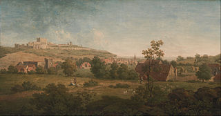 Landscape, with Dover Castle in the Distance