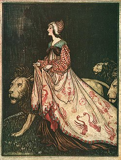 Arthur Rackham The Lady and the Lion