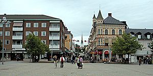 Arvika - Central Arvika in June 2004