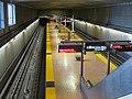 Ashby station platform from fare mezzanine, March 2018.JPG