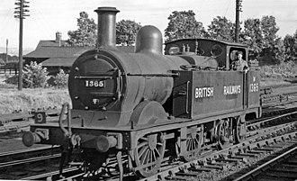 Midland Railway 1833 Class - 1833 Class No. M1365 at Ashchurch, 1949