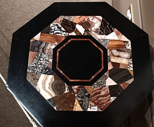Ashford Black Marble - An inlaid table in Derby Museum