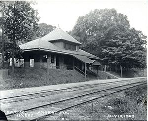 Ashmont (MBTA station) - The New Haven Railroad's Ashmont station in 1923