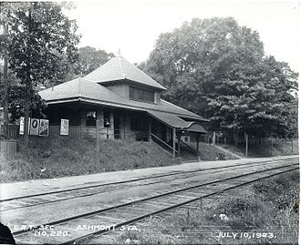 Ashmont station - The New Haven Railroad's Ashmont station in 1923