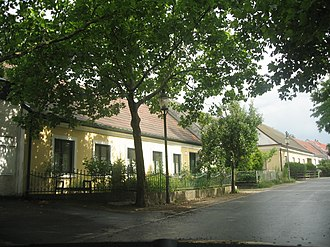 Aspern - Old houses in Lobaugasse, Aspern