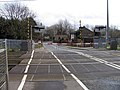 At Cheshunt Station crossing, Herts - Gates closed - geograph.org.uk - 345955.jpg