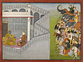 "Attributed to Fattu - The Siege of Mathura by Jarasandha from the series Guler-Basholi ""Bhagavata Purana"" - Google Art Project.jpg"
