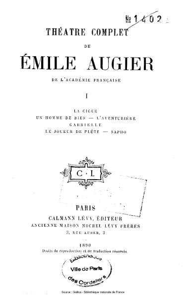 File:Augier - Théatre complet, tome 1.djvu