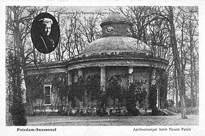 Antique Temple - The Antique Temple after 1921 with the likeness of the late Empress Augusta Victoria