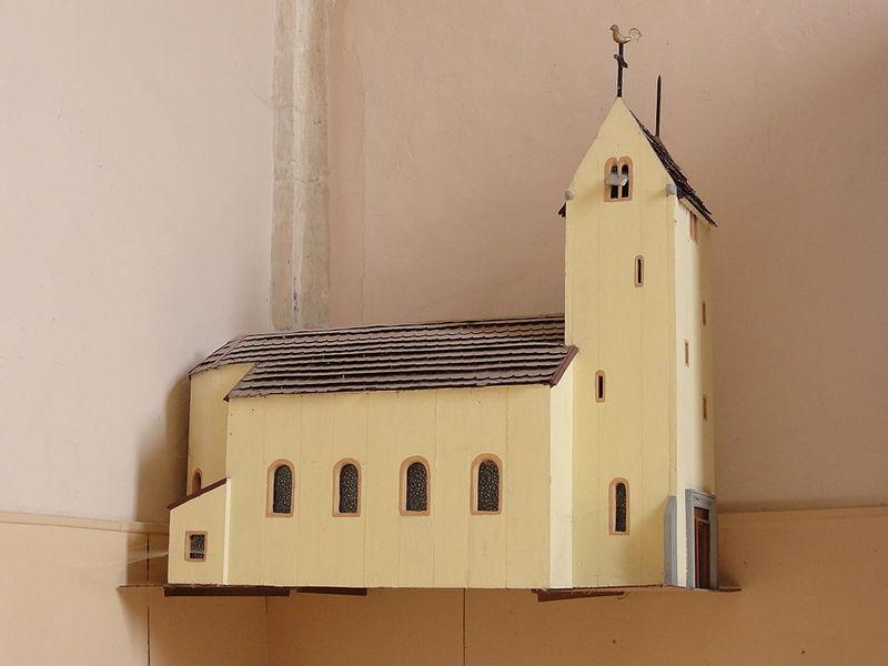 Aulnois sous Vertuzey (Meuse) Église Saint-Sébastien maquette