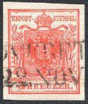 Austria 1850 3Kr Ia first print.jpg