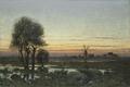 Autumn Landscape in the Glow of Sunset (Per Ekström) - Nationalmuseum - 21817.tif