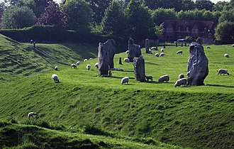 West Kennet Long Barrow - Image: Avebury Ring geograph.org.uk 442927