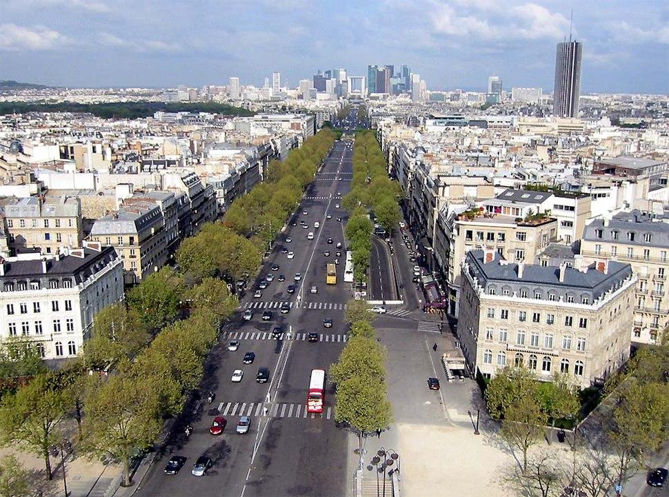 Avenue de la Grande-Armée from Arc de Triomphe 20020000