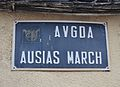Avinguda d'Ausiàs March de Gilet, placa.JPG