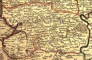 Avranchin - A map of Avranchin from 1716