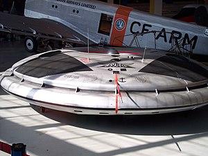 Royal Aviation Museum of Western Canada - Avrocar model