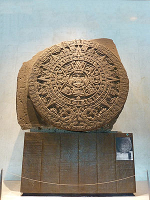 National Museum of Anthropology (Mexico) - Original Aztec Sunstone, available for featuring