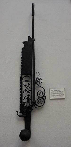 Pothook - Image: BLW Wrought Iron Pot Hook