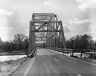 National Register of Historic Places listings in Fremont County, Wyoming - Image: BMU Bridge over Wind River