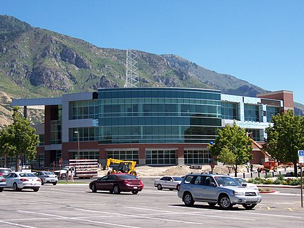The BYU Broadcasting building under construction, August 2010. BYU BYUB.JPG