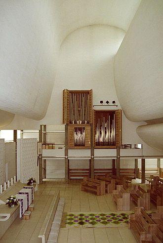 Critical regionalism - Jørn Utzon, Bagsvaerd Church (1973–6), Denmark; combinations of local culture and universal civilization.