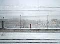 Bahnhof Horrem ~ Blick von der Schnellfahrstrecke Köln–Aachen ~ Januar 2015 (2).JPG
