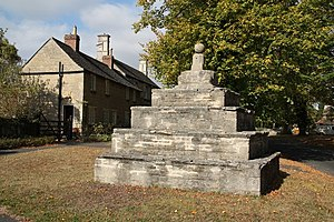 Bainton, Cambridgeshire - Image: Bainton village cross geograph.org.uk 1513560