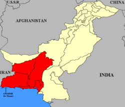 Location of Baluchistan States Union