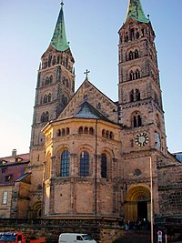 Bamberg Cathedral, completed in the 13th century.