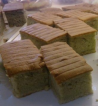 Banana cake - Image: Banana cake slices