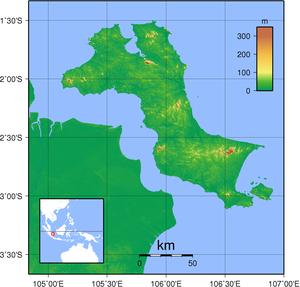 Bangka Island - Topography of Bangka island