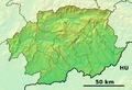 Banská Bystrica Region - physical map.png