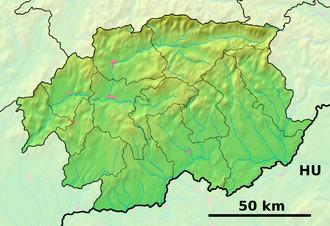 Abovce - Image: Banská Bystrica Region physical map