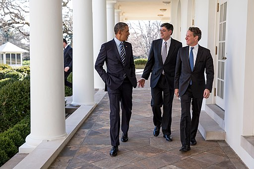 Barack Obama, Jack Lew, and Timothy Geithner
