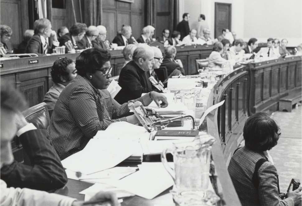 Barbara Jordan on House Judiciary Committee during Watergate impeachment hearings