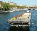 Barge on Seine in Paris France.png