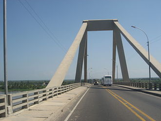 Transport in Colombia - The Pumarejo bridge in Barranquilla. The bridge serves to cross the Magdalena River between the Departments of Atlántico and Magdalena. It is also one of the oldest standing bridges in Colombia.