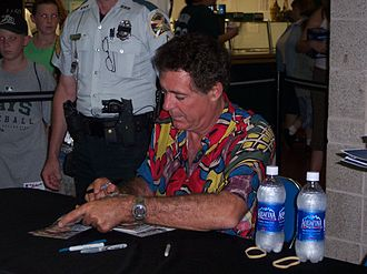"Barry Williams (actor) - Williams signing autographs in 2003 at ""Barry Williams Disco Night"""
