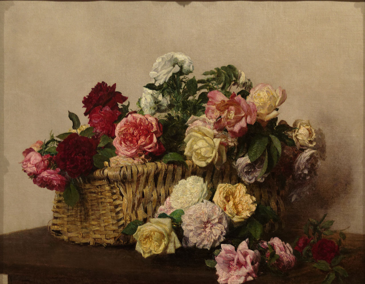 File Basket Of Roses By Henri Fantin Latour 1885 Jpg