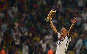 Bastian Schweinsteiger celebrates at the 2014 FIFA World Cup