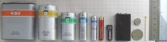 Battery nomenclature - 4.5-Volt, D, C, AA, AAA, AAAA, A23, 9-Volt, CR2032 and LR44 cells.