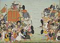 Battle between Balarama and Jarasandha. Illustration from a Bhagavata Purana series..jpeg