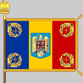 Battle flag of Romania (Land Forces model)