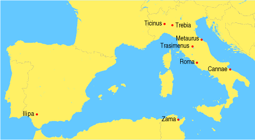 Battles second punic war
