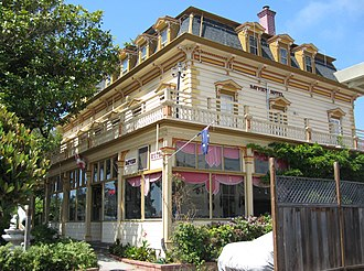 National Register of Historic Places listings in Santa Cruz County, California - Image: Bayview Hotel, Aptos, California