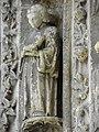Bazas (33) Cathédrale Saint-Jean-Baptiste Façade ouest Portail central 3ème voussure 04.JPG