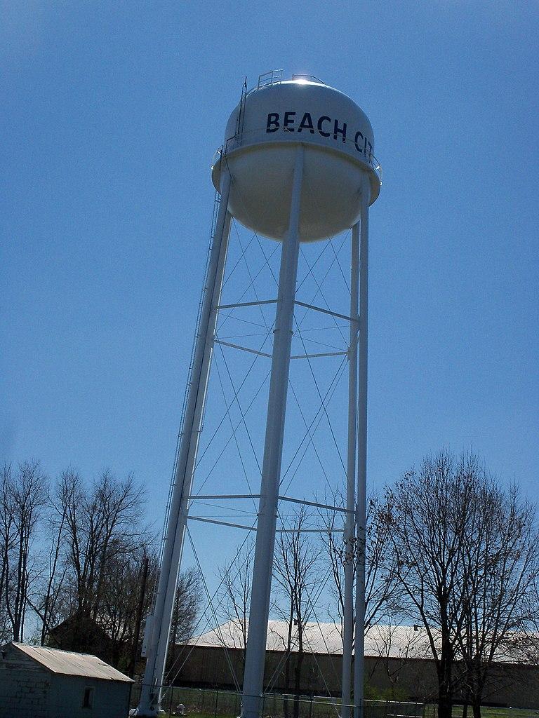 file beach city ohio water tower jpg wikipedia. Black Bedroom Furniture Sets. Home Design Ideas